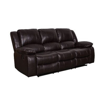 Herdon Reclining Sofa Upholstered: Brown