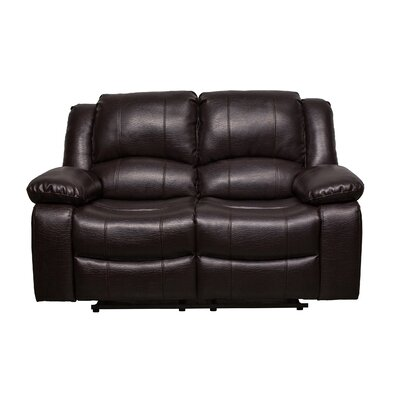 Herdon Reclining Loveseat Upholstered: Brown