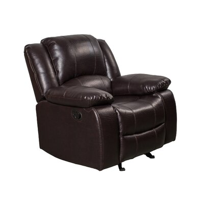 Herdon Manual Wall Hugger Recliner Upholstery: Brown