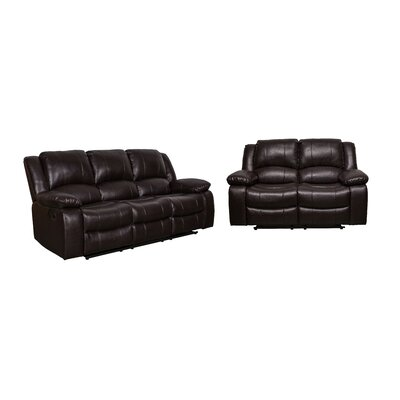 Herdon 2 Piece Living Room Set Upholstery: Brown