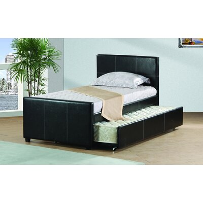 Davon Trundle Platform Bed Size: Full, Bed Frame Color: Black