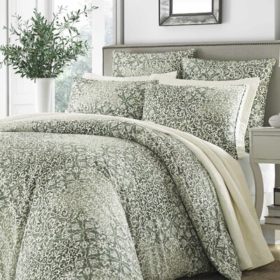 Mahon 100% Cotton 3 Piece Comforter Set Size: Full/Queen