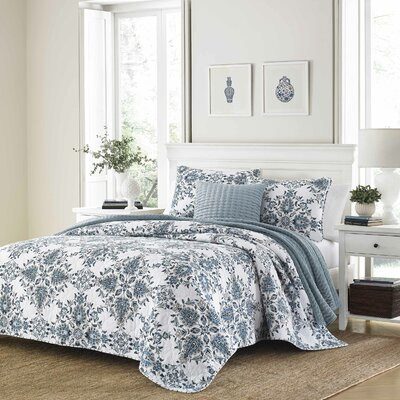 Holmstrom 100% Cotton Reversible Quilt Set Size: Full/Queen