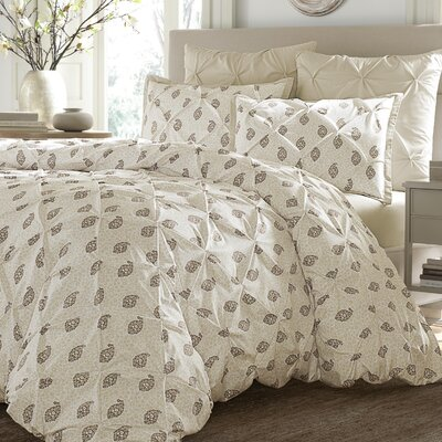Boucher 3 Piece Duvet Cover Set Size: King