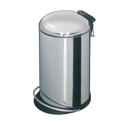 Hailo USA Inc. Trento 4-Gal Top Design Waste Bin - Finish: Stainless Steel