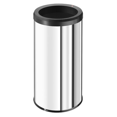 Hailo LLC Big Bin 11.88-Gal. Open Waste Box - Color: Stainless Steel