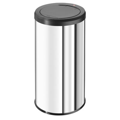 Hailo LLC Big Bin 11.9-Gal.Touch Waste Box - Color: Stainless Steel