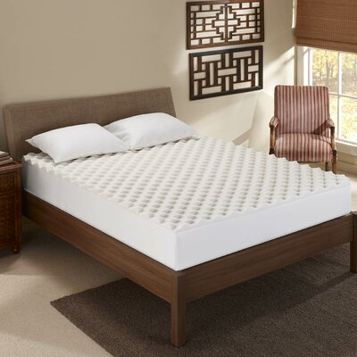Convoluted 1.5 Memory Foam Mattress Topper Bed Size: King