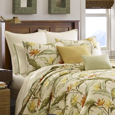 Birds of Paradise Quilted Sham by Tommy Bahama Bedding Size: King