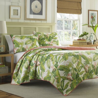 Aregada Dock Reversible Quilt Set by Tommy Bahama Bedding Size: Twin, Color: Ecru