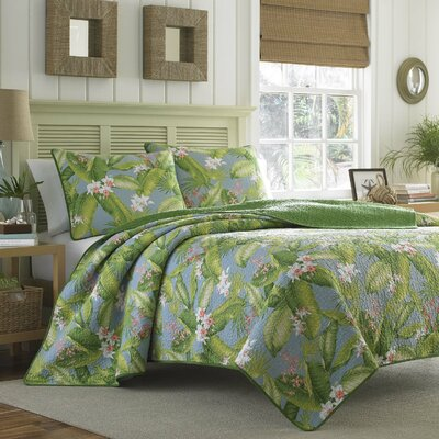 Aregada Dock Reversible Quilt Set by Tommy Bahama Bedding Size: Full/Queen, Color: Sky
