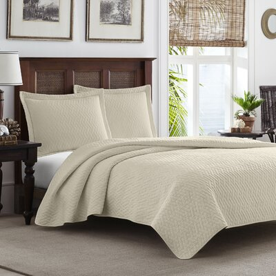 Chevron 100% Cotton Quilt Set Size: Twin, Color: Dune
