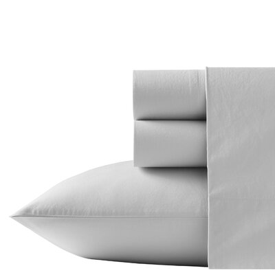 Relaxed State Stonewashed Cotton 4 Piece Sheet Set Size: King