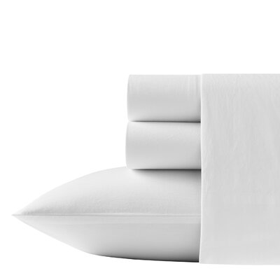 Relaxed State 200 Thread Count Cotton Sheet Set Size: King, Color: White