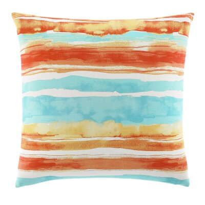 Watercolor Stripe Cotton Decorative Throw Pillow by Tommy Bahama Bedding