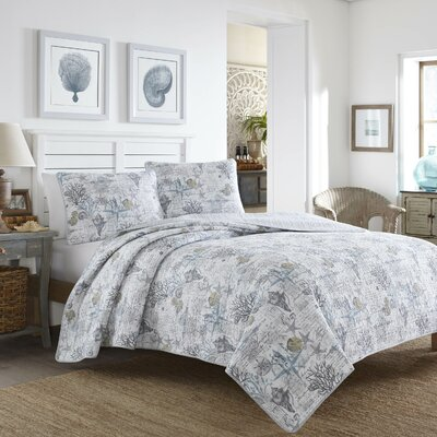 Beach Bliss 3 Piece Reversible Quilt Set Size: King
