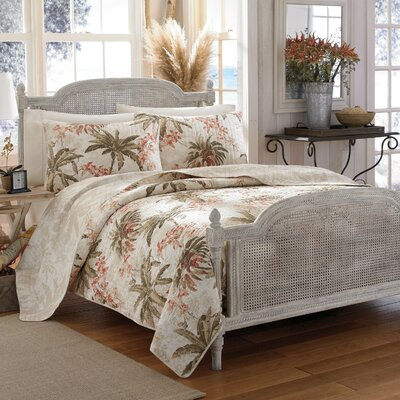 Bonny Cove Reversible Quilt Set by Tommy Bahama Bedding Size: Twin