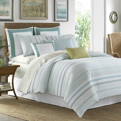 La Scala Breezer 4 Piece Reversible Comforter Set by Tommy Bahama Bedding Size: Queen, Color: Seaglass