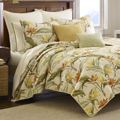 Birds of Paradise Quilt  by Tommy Bahama Bedding Size: King