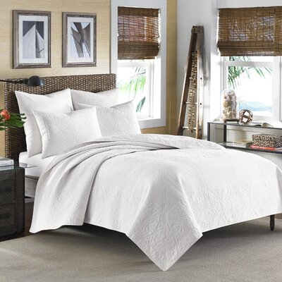 Nassau Quilt by Tommy Bahama Bedding Color: White, Size: King