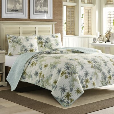 Serenity Palms Quilt by Tommy Bahama Bedding Size: King