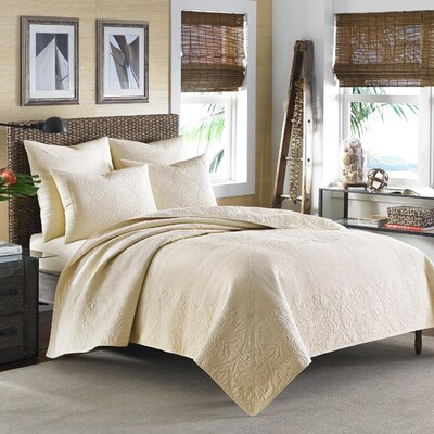 Nassau Quilt by Tommy Bahama Bedding Size: King, Color: Ivory