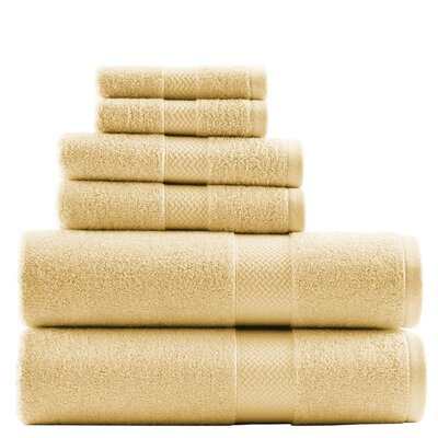Cypress Bay 6 Piece Towel Set by Tommy Bahama Bedding Color: Sun Yellow