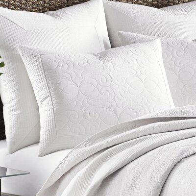Nassau Sham by Tommy Bahama Bedding Size: Standard, Color: White