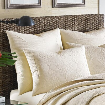 Nassau Sham by Tommy Bahama Bedding Size: Standard, Color: Ivory