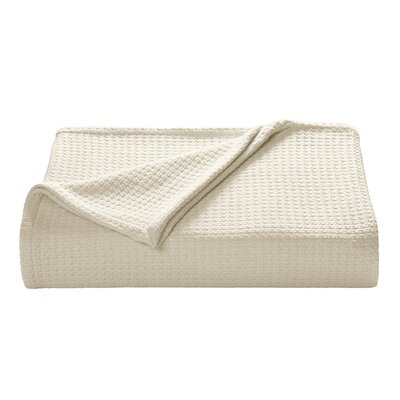 Coast Cotton Blanket Size: King, Color: Ecru