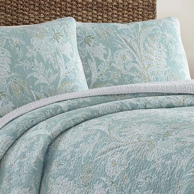 Tiki Bay Reversible Quilt Set Size: King