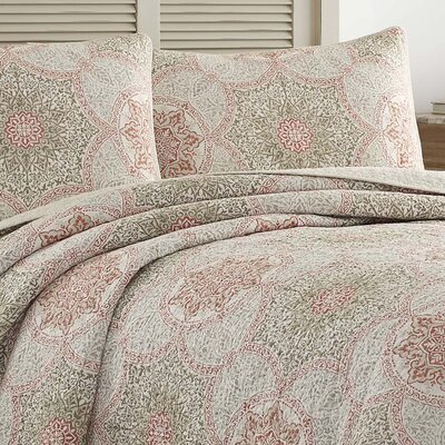 Palm Channel Reversible Quilt Set by Tommy Bahama Bedding Size: King