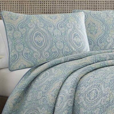 Turtle Cove Reversible Quilt Set by Tommy Bahama Bedding Size: Twin