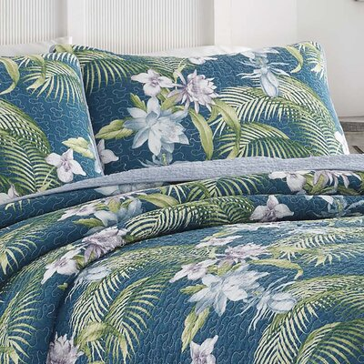Southern Breeze Reversible Quilt Set by Tommy Bahama Bedding Size: King