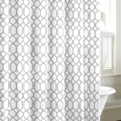 Shoreline Trellis Cotton Shower Curtain by Tommy Bahama Bedding Color: Gray