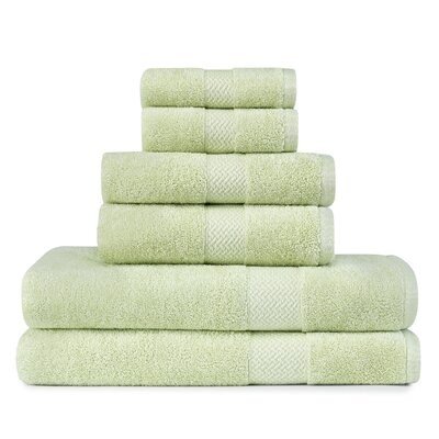 TB Cypress Bay 6 Piece Towel Set by Tommy Bahama Bedding Color: Kiwi