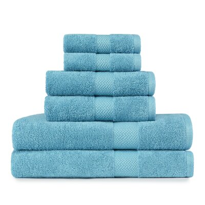 Cypress Bay 6 Piece Towel Set by Tommy Bahama Bedding Color: Arroya Blue