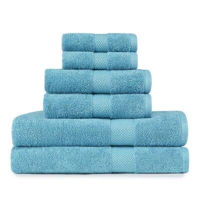 TB Cypress Bay 6 Piece Towel Set Color: Arroya Blue