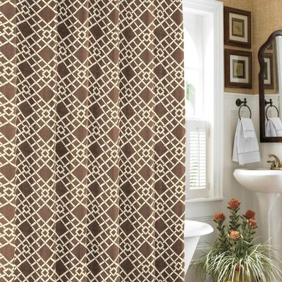 Buy Low Price Tommy Bahama Bamboo Trellis Cocoa Shower Curtain Shower Curtain Mall