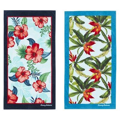 Seaside Hibiscus and Tropical Swim 2 Piece Beach Towel Set