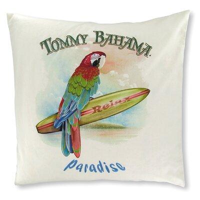 Novelty Dec Parrot Paradise Cotton Throw Pillow