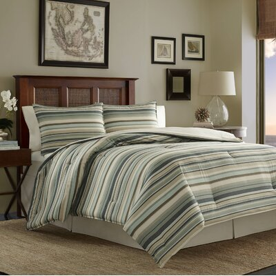 Canvas Stripe 3 Piece Comforter Set by Tommy Bahama Bedding Size: Queen