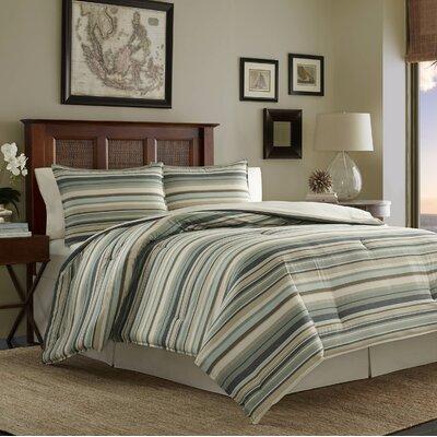 Canvas Stripe 3 Piece Comforter Set Size: King