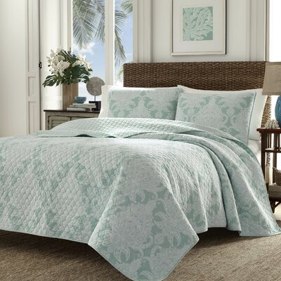 Pineapple Cape Harbor Reversible Quilt Set Size: Full/Queen