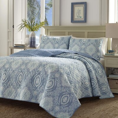 Turtle Cove Caribbean Blue Reversible Quilt Set by Tommy Bahama Bedding Size: Twin