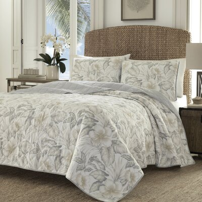 Casablanca Garden Dune Reversible Quilt Set by Tommy Bahama Bedding Size: King