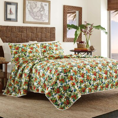 Parrot Cove Quilt by Tommy Bahama Bedding Size: Full/Queen
