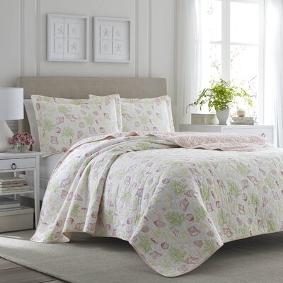 Harmony Coast Reversible Quilt Set Size: Twin