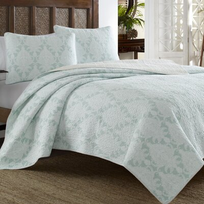 Cape Plumbago Reversible Quilt Set by Tommy Bahama Bedding Size: Full/Queen
