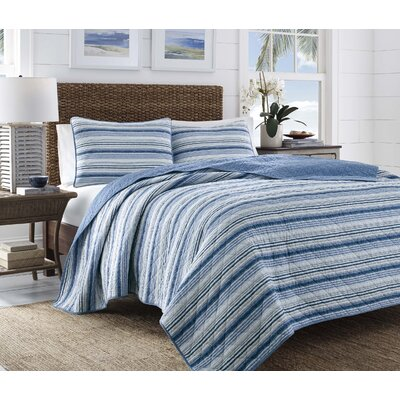 Boat Stripe Reversible Quilt Set by Tommy Bahama Bedding Size: King